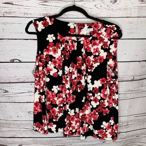 Calvin Klein 3x floral sleeveless blouse